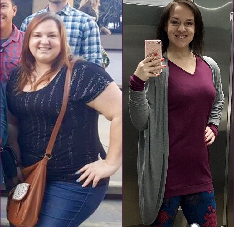 weight loss transformation female