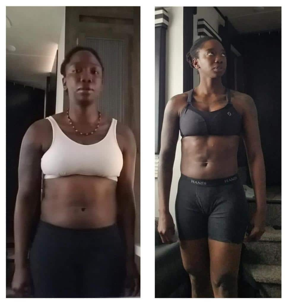 skinny fat weight loss before and after girl robyn