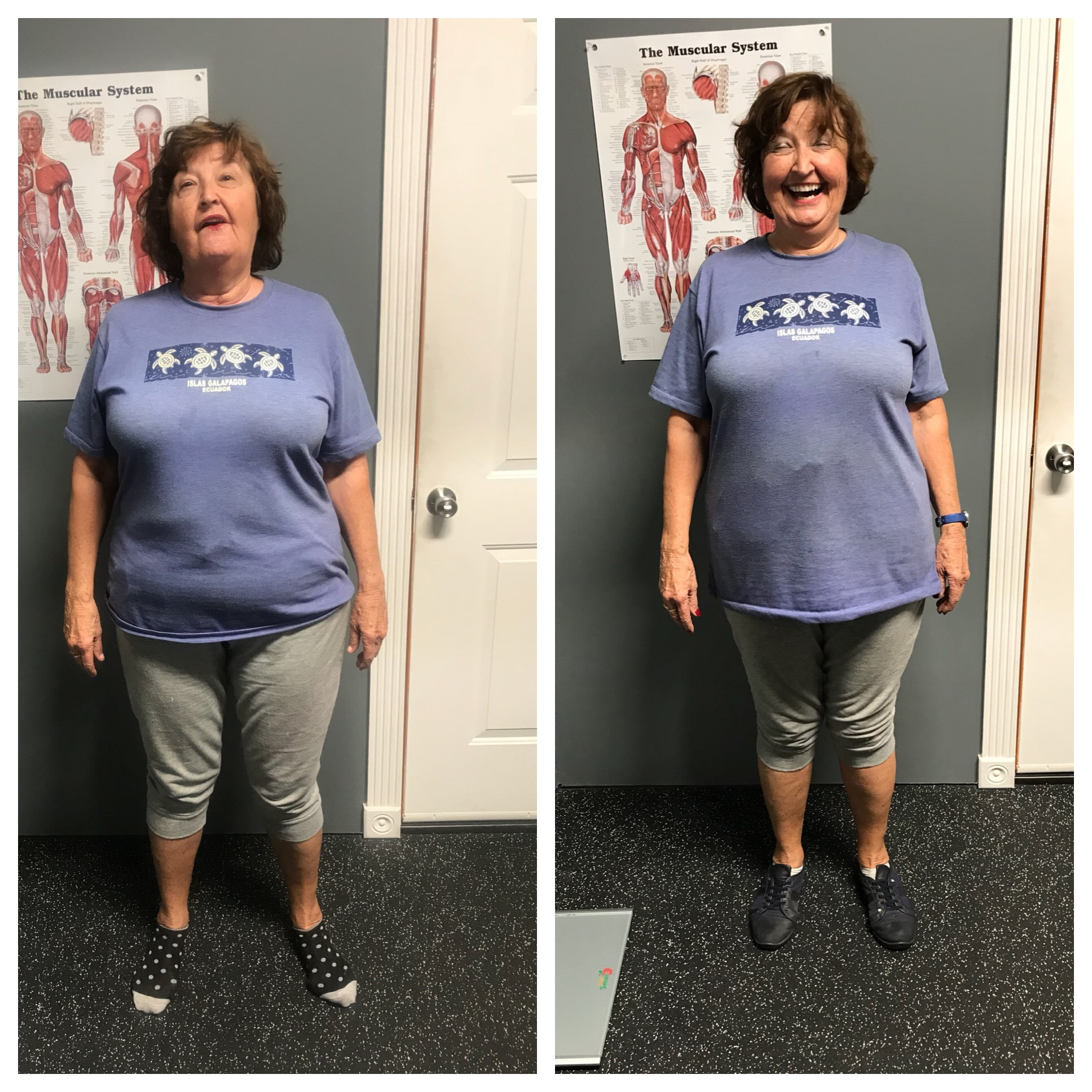 weight loss before and after woman elaine