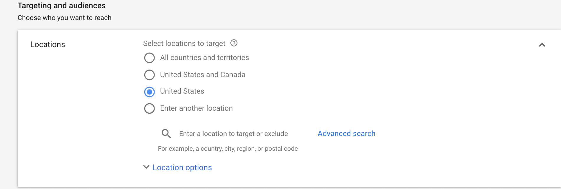 google ads for personal trainers location services