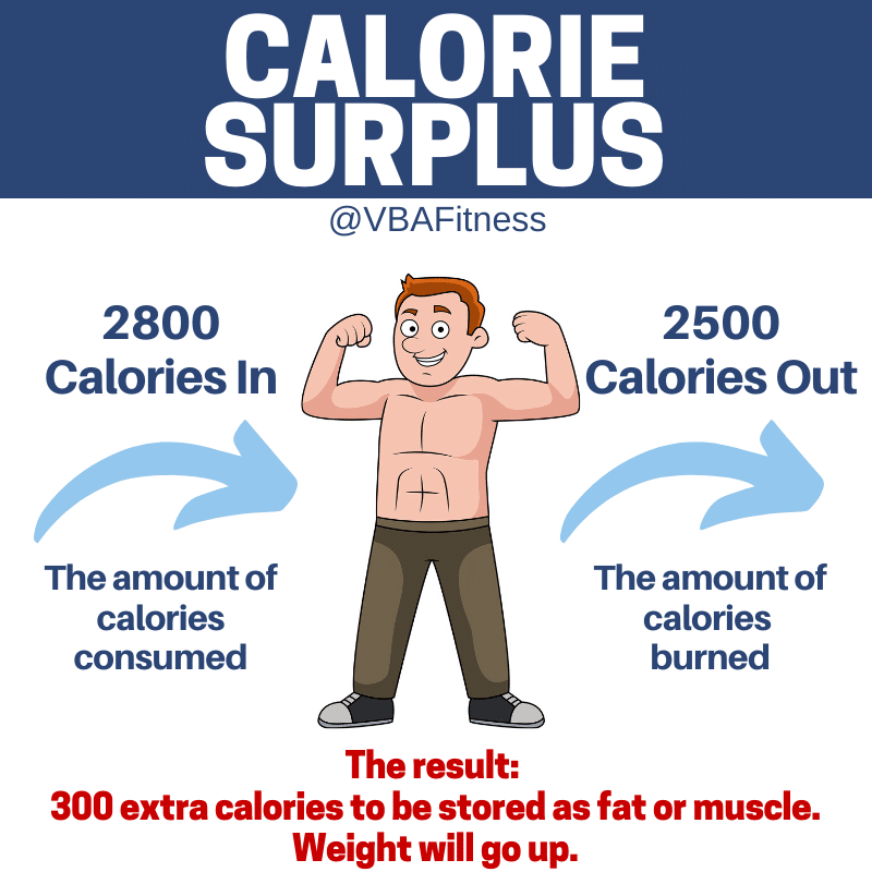 why can't I gain weight calorie surplus infographic
