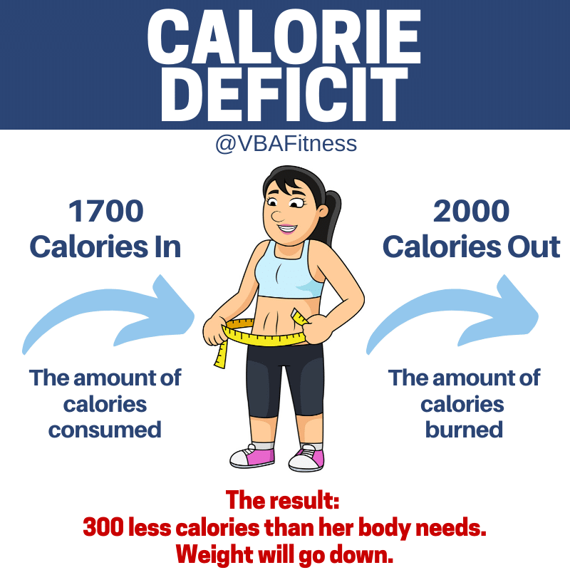 macros for weight loss calorie deficit infograph