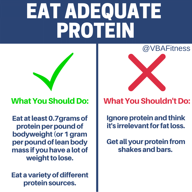 How to achieve weight loss vs fat loss: Eat adequate protein