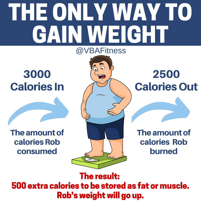 weight loss tips - the only way to gain weight calorie surplus