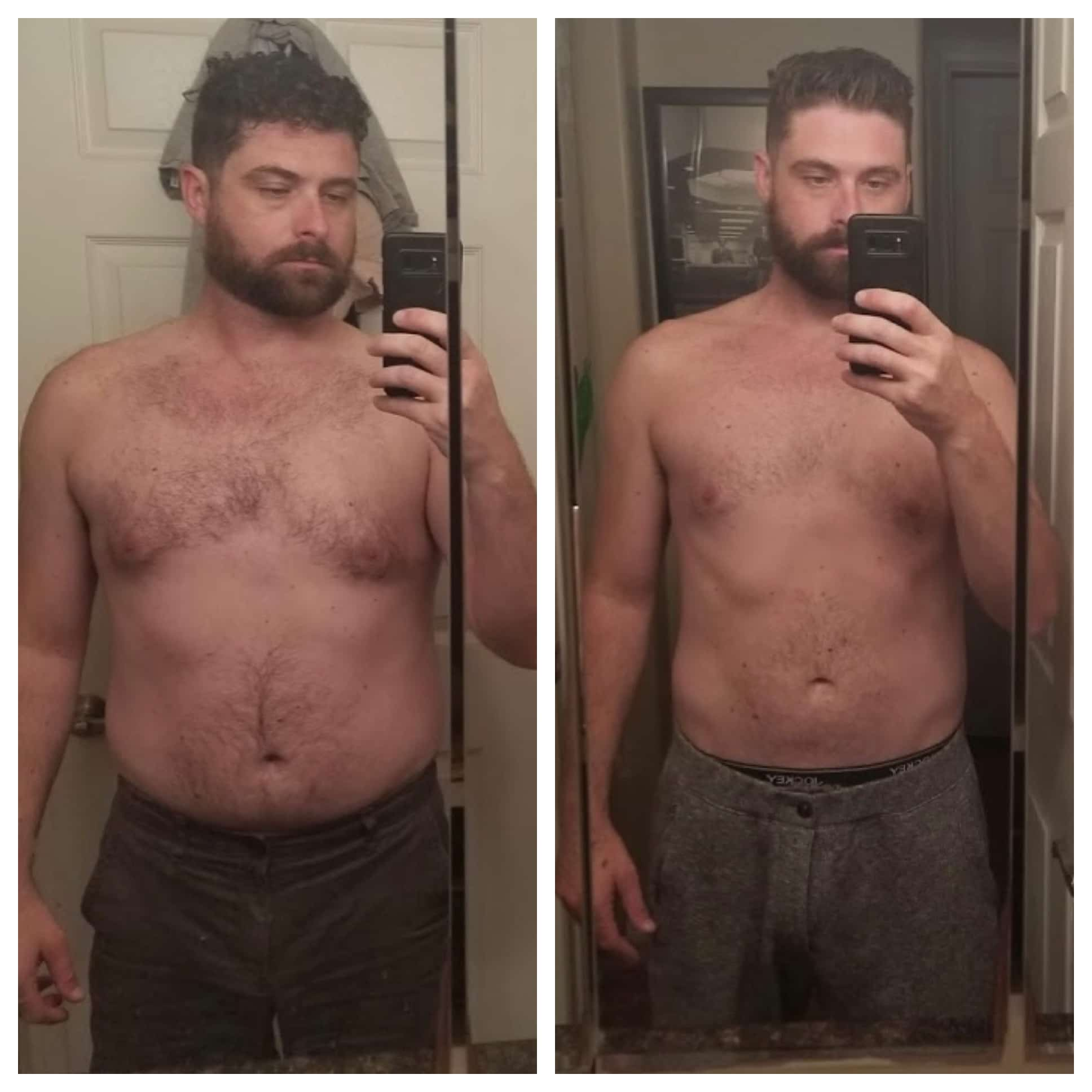 weight loss before and after male james