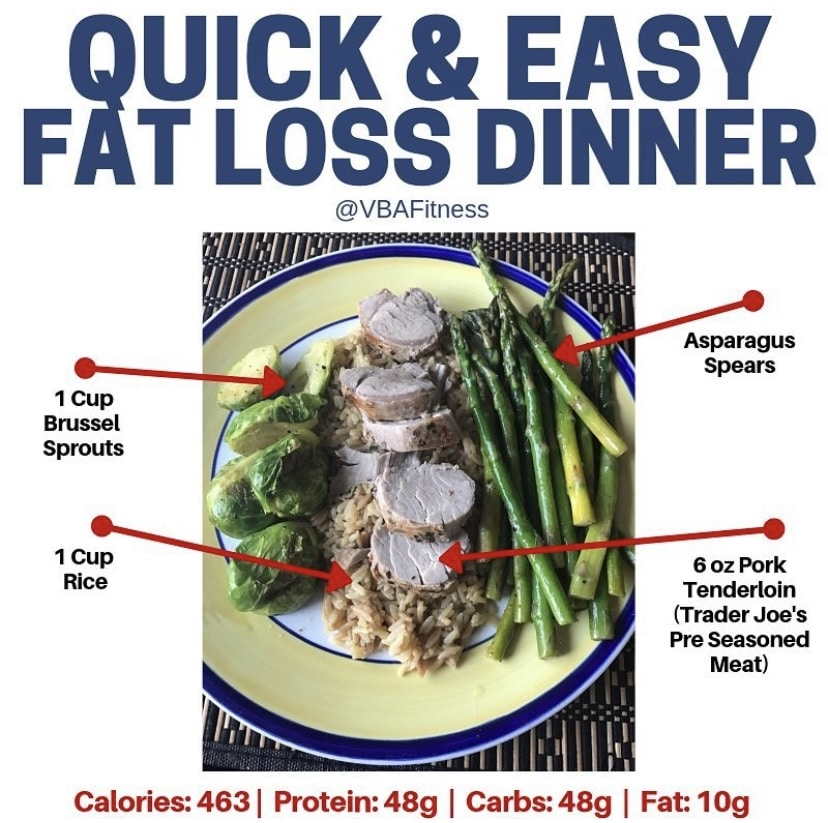 lose weight without exercise - eat protein and vegetables