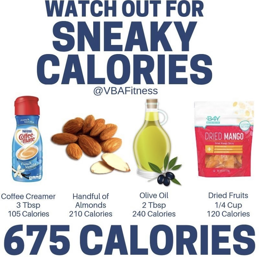 macros for weight loss sneaky calories infograph