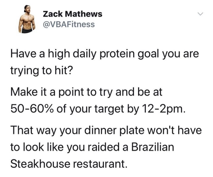 hardgainer tip for protein